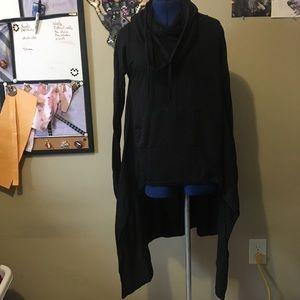 Black Cowl Hi-Low Shirt -S
